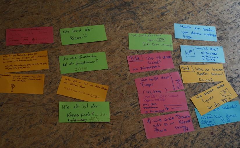 Ein sonniger Projekttag mit vielen tollen Ideen